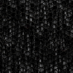 Seamless scales snake skin texture black dirty
