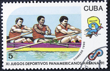 A post stamp printed CUBA, 1991 Pan American Games in Havana, Cu