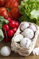Garlic and other vegetables