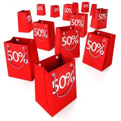 Einkaufstüten 50%