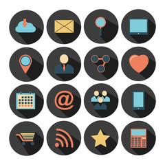 Flat design - vector icons set.
