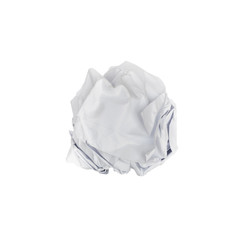 paper ball on isolate white background