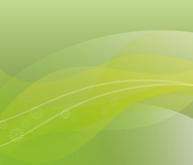 Green abstract background, vector illustration