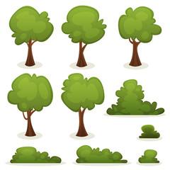 Trees, Hedges And Bush Set