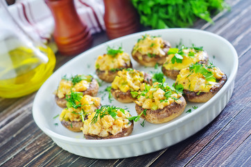 mushroom with cheese
