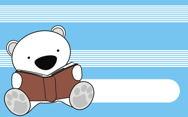 polar bear reading cartoon wallpaper