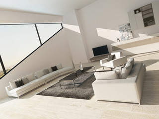 Modern luxurious living room interior