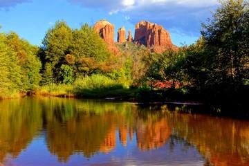 Fototapete - Cathedral Rock at sunset, Sedona, Arizona, USA