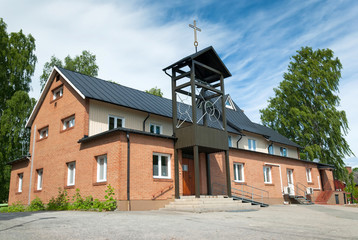 Small catholic church in southern Sweden