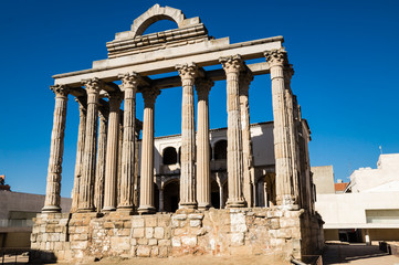 Diana temple in Merida, Spain