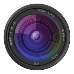 Camera photo lens, vector