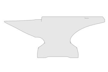 cartoon image of blacksmith tool - anvil