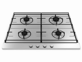 Gas stove isolated on white background