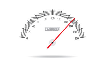 Speedometer on a white background. Vector.