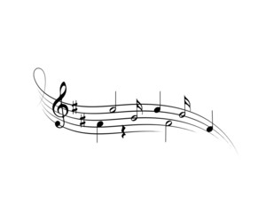 Musical symbols on a white background