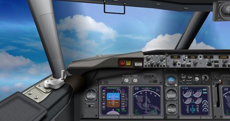 Cockpit Passagierflugzeug