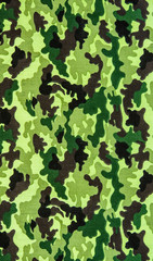 Fabric on military camouflage