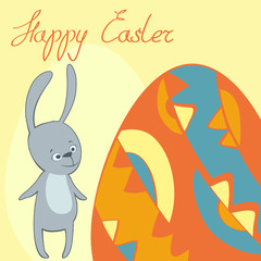 vector card happy Easter frame