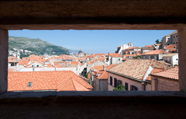 View of Dubrovnik from city walls, Croatia