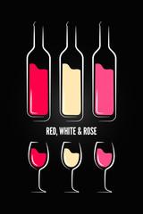 wine glass bottle label design background