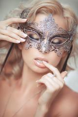 Vogue sexy woman in Venetian mask Bride