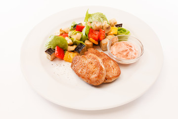cutlets with vegetables