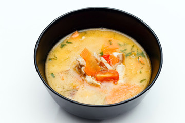 Soup made from Coco Milk and Vegetables
