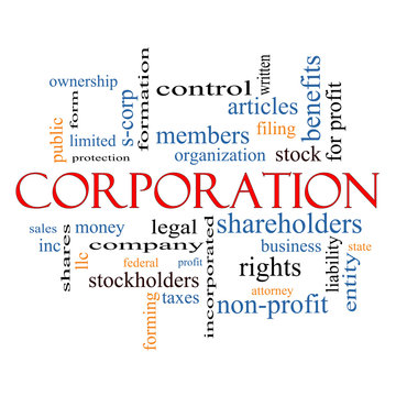 Corporation Word Cloud Concept