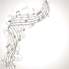 musischer Hintergrund mit Noten