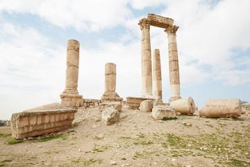 Roman ruins on the Amman citadel, Jordan