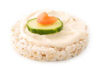 Rice Cake over white background