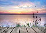 el lago de las nubes de colores