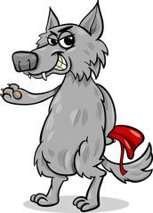 fairy tale wolf cartoon illustration