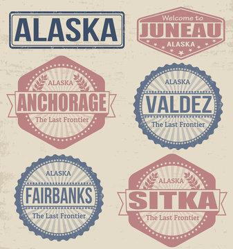Alaska cities stamps