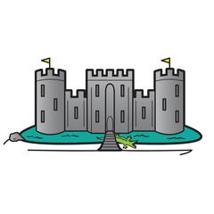 Castle Home Security System Illustration Concept