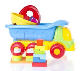 Children's toy machine and pyramid