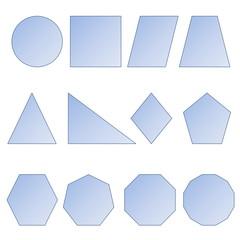 Set of shapes