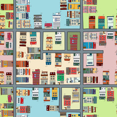 Seamless map of city