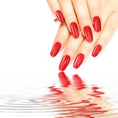 Wall Mural - Rote glänzende Nägel