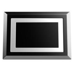 realistic 3d render of digital frame