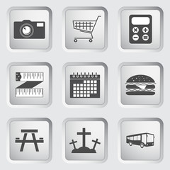 Icons on the buttons for Web Design. Set 3