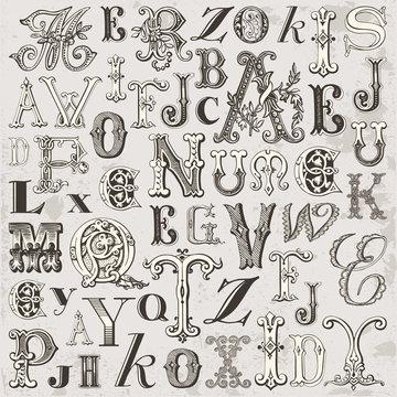 Lettres Vintage