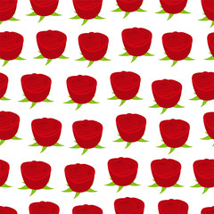 seamless wallpaper pattern with of red roses
