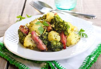 Broccoli and cauliflower fried