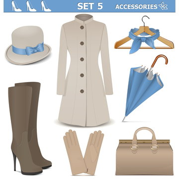 Vector Female Accessories Set 5