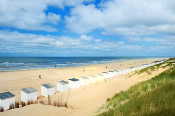 Blue beach huts at Texel Wall mural