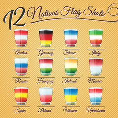 TWELVE NATIONS FLAG SHOTS