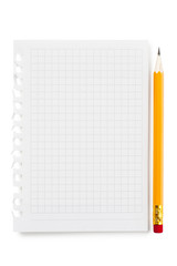 Blank sheet of notebook background