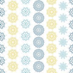 vector yellow gray abstract mandalas striped seamless pattern