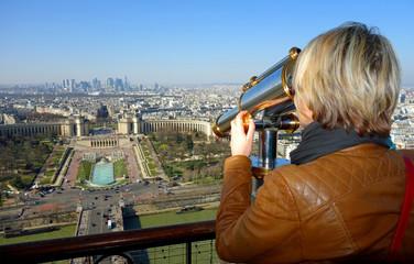 Observation du Trocadéro depuis la Tour Eiffel à Paris